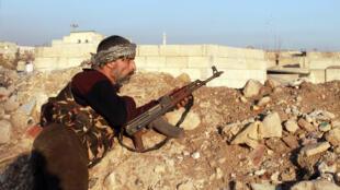 Tình hình chiến sự ác liệt làm nhiều thành viên liên minh đối lập Syria không muốn hòa đàm. Một cảnh tượng tại thành phố Alep ngày 7/01/ 2014.