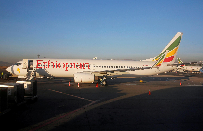 យន្តហោះ Boeing 737 នៅអាកាសយានដ្ឋានអន្តរជាតិ Bole ក្នុងទីក្រុង Addis Ababa នាគ្រាកន្លងមក។
