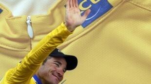 Thomas Voeckler porte le maillot jaune depuis la 9e étape.