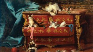 'Gatos en una cómoda', por Jules Le Roy.