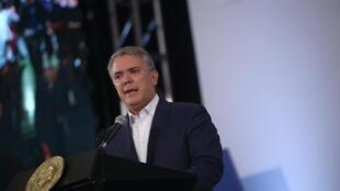 El presidente Iván Duque durante la reunión con los alcaldes y gobernadores, en Bogotá, el 24 de noviembre de 2019.