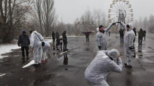 Le «tourisme nucléaire»  passe par la visite d'un ancien parc d'attractions de Tchernobyl.