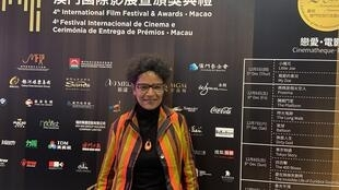 A actriz brasileira Bárbara Santos no Festival de cinema de Macau a 8 de Dezembro de 2019.