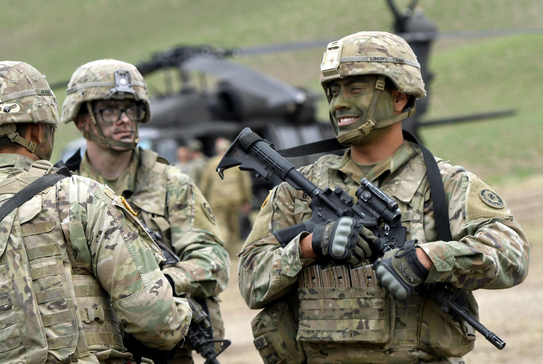 """Американские военные на учениях НАТО """"Noble Partner 2018"""" в Грузии 15 августа 2018"""