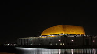 The Bahrain National Theater is a waterfront building complex in Manama that costed 46 million euros.