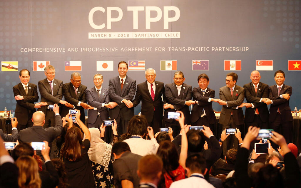 CPTPP成員國領導人 2018年3月8日
