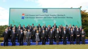 2010年十月二十二日韓國慶州二十國財長會議。