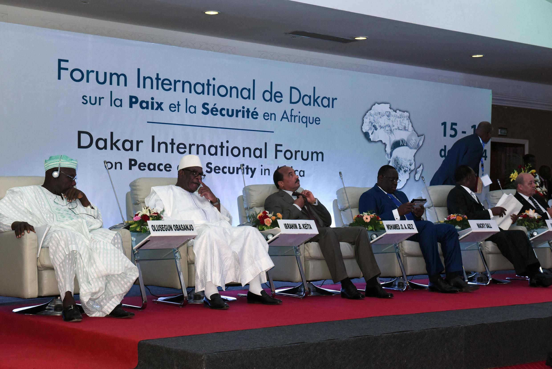 Le premier Forum international de Dakar sur la paix et la sécurité en Afrique, le 16 décembre à Dakar, au Sénégal.