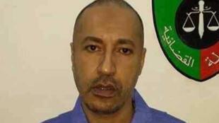 Saadi Kadhafi, photographié le 6 mars 2014 dans sa prison de Tripoli, après avoir été rasé à son arrivée.