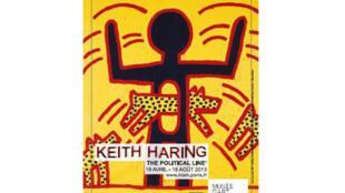 Cartaz da exposição Keith Haring no Museu da Arte Moderna de Paris.