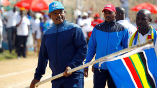 Le Burundi traverse une période de fortes turbulences sur le plan intérieur et sur le front diplomatique : Pierre Nkurunziza, le président burundais lors d'une rencontre sportive le 27 mai 2017 à Bujumbura (photo d'illustration).