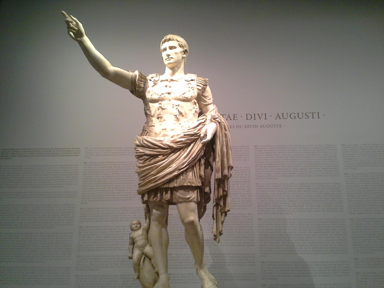 """""""Augusto de Prima Porta"""", mármol, Ciudad del Vaticano."""