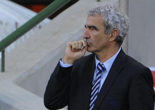 Le sélectionneur de l'équipe de France, Raymond Domenech.