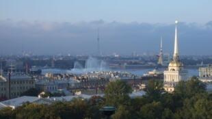 Vue de Saint-Pétersbourg.