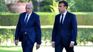 Shugaban Faransa Emmanuel Macron da Ministan Cikin Gidan Kasar Gérard Collomb