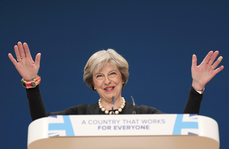 Thủ tướng Anh Theresa May tại Đại Hội Đảng Bảo Thủ ở Birmingham, ngày 02/10/2016.