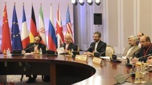 Phái đoàn Iran trong cuộc thảo luận về chương trình hạt nhân với nhóm 5+1 tại Kazakhstan, 26/02/2013