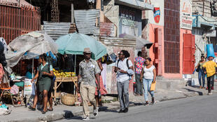 A street in Port-au-Prince, where anger has grown in recent weeks at the violence and unrest in Haiti