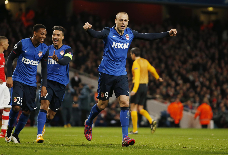 Dimitar Berbatov a marqué le deuxième but monégasque face à Arsenal.