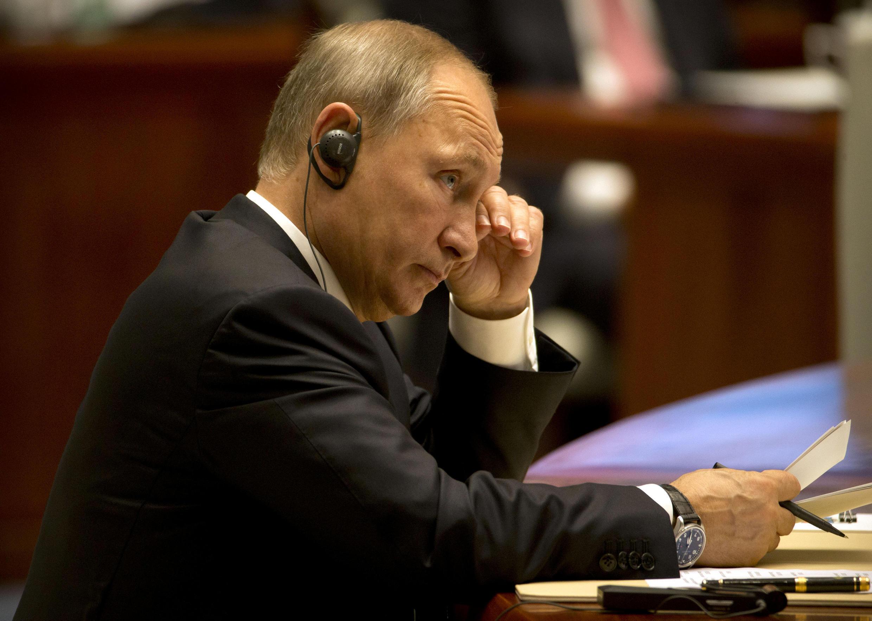 Президент России Владимир Путин на саммите БРИКС в китайском Сямэне, 5 сентября 2017 г.