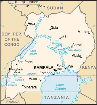 Uganda map