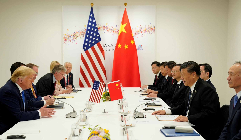 Reunião bilateral em Osaka, no Japão, entre os presidentes Donald Trump e Xi Jinping neste sábado, 29 de junho de 2019.