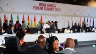 Le 3ème Sommet Inde-Afrique, à New Delhi, le 26 octobre 2015.