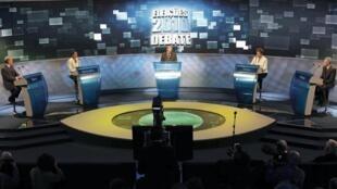 Los cuatros candidatos se enfrentaron en este primer debate de cara a los comicios de octubre.