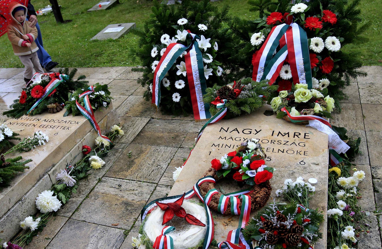 Mộ của cố thủ tướng Imre Nagy tại nghĩa trang Budaest, 23/10/2011
