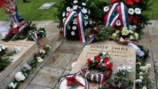 Mộ của cố thủ tướng Hungary Imre Nagy tại nghĩa trang Budapest, 23/11/2011.