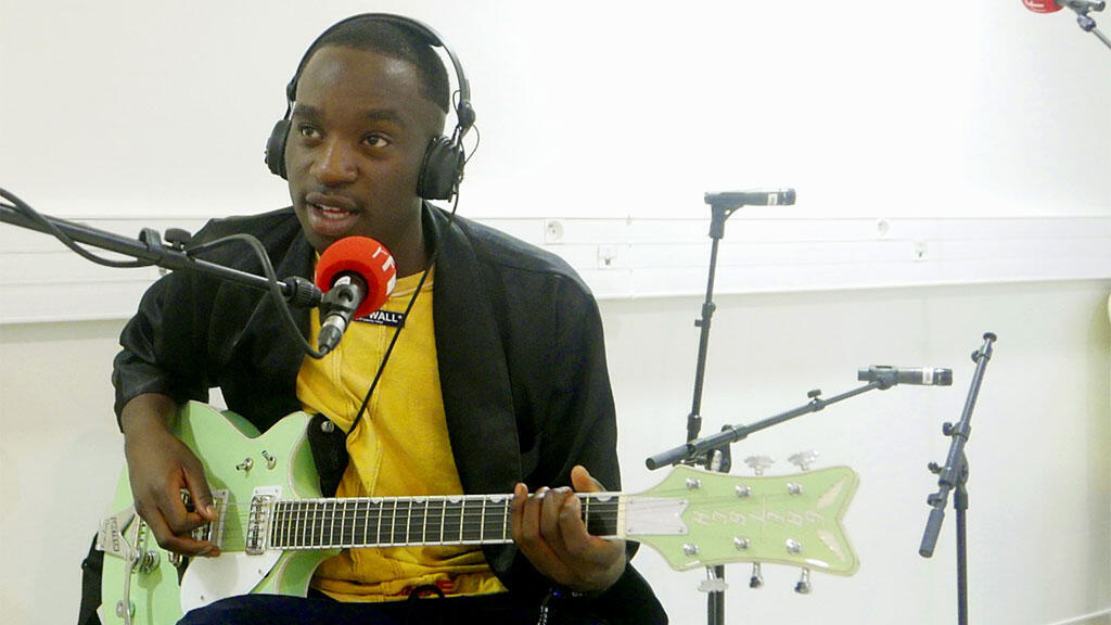 Petite Noir performs live for RFI at the Sakifo festival 2017, Réunion island