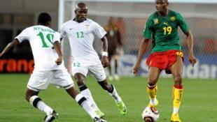 James Chamanga (d) a ouvert la marque à la 11e mn pour la Zambie.