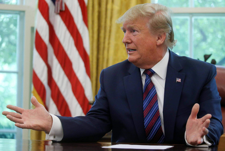 Tổng thống Mỹ Donald Trump tại Nhà Trắng, ngày 26/07/2019.