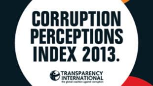 Capa do relatório de 2013 da ONG Transparency International sobre a corrupção no mundo.
