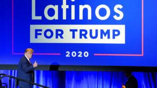 Mesa redonda de Latinos para a Coligação Trump em Phoenix. O presidente Donald T/rump está lutando pelos eleitores latinos nos principais estados de transição com o candidato democrata Joe Biden. 14/09/2020