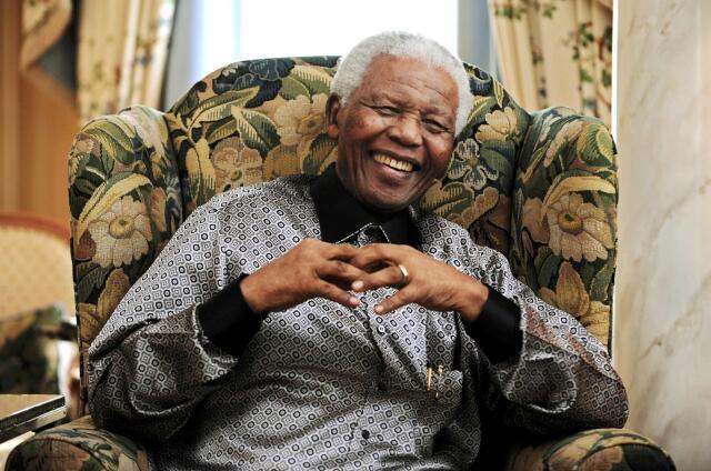 O ex-presidente sul-africano Nelson Mandela, em 24 de junho de 2008