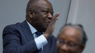 L'ancien président ivoirien Laurent Gbagbo à la Cour pénale internationale, à La Haye, le 15 janvier 2019.