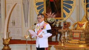 Quốc vương Thái Maha Vajiralongkorn ngày 1/12/ 2016, tại hoàng cung, Bangkok.
