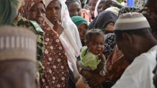 Wasu 'yan gudun hijirar Niger a yankin  Diffa.