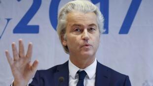 Geert Wilders, lãnh đạo đảng cực hữu PVV - đảng Tự Do đang thu hút chú ý của công luận Hà Lan.