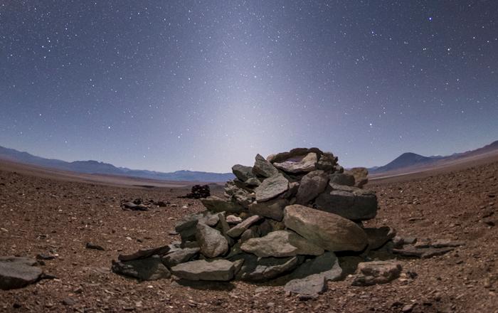 Saywas en el desierto de Atacama, al norte de Chile. Los Incas las construyeron como marcadores astronómicos.