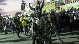 En Haïti comme dans de nombreux pays le carnaval bat son plein avec parades costumées et défilés de chars. Port-au-Prince le 15 février 2015.