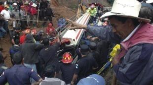 Buried bus in Guatemala