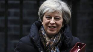 英國首相特蕾莎梅2017年1月25日唐寧街10號