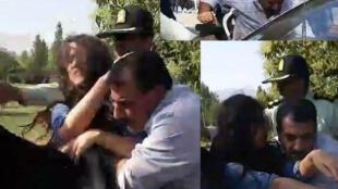 برخورد خشن پلیس با یک دختر جوان در تهران پارس در اول تیر ماه ۱۳۹۸