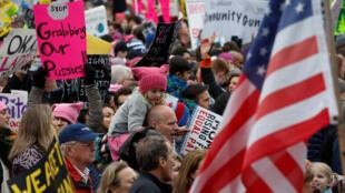 La Marcha de las Mujeres en Washington, este 21 de enero de 2017.