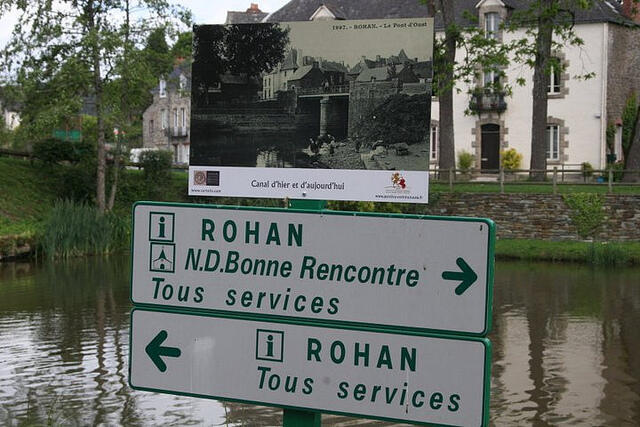 Nantes Canal in Rohan, Brittany