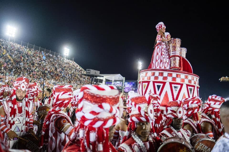 Desfile carnavalesco da Escola de Samba Unidos do Viradouro em 2020.