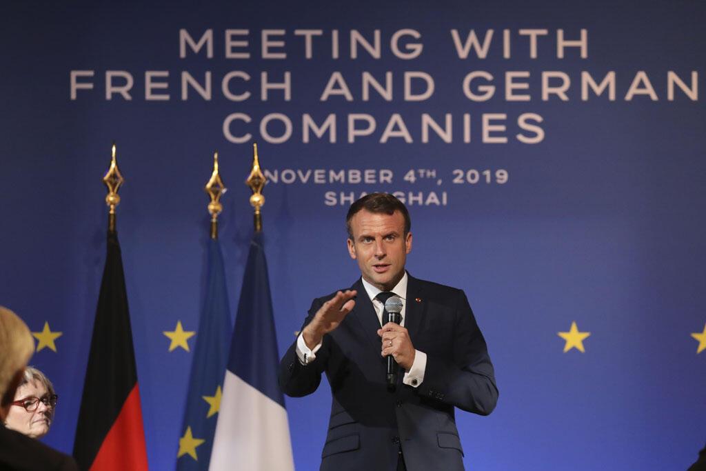 O presidente francês, Emmanuel Macron, iniciou uma visita de três dias à China.