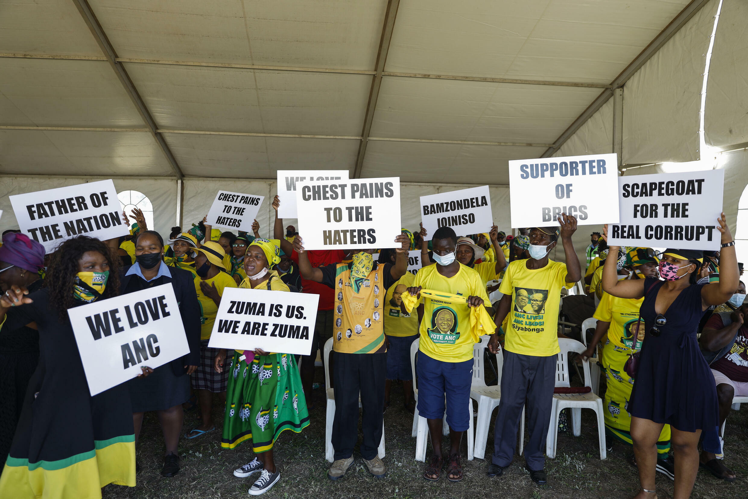 A 'welcome prayer' for Zuma, who was released on on parole last month but has not appeared in public since